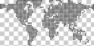 World Map Dot Distribution Map Globe PNG