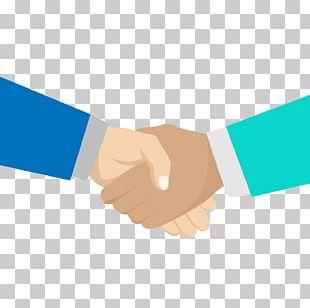 Blue Business Handshake PNG