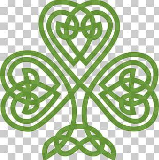 Ireland Shamrock Celtic Knot Saint Patrick's Day PNG