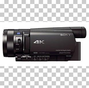 Sony Handycam FDR-AX100 Video Cameras 4K Resolution PNG