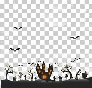Halloween Horror Ghost Castle PNG