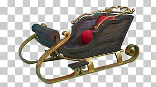 Santa Claus Christmas Wish List Sled Theatrical Property PNG