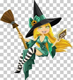 Witchcraft Halloween Magician Illustration PNG