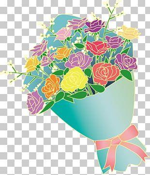 Garden Roses Floral Design Nosegay Cut Flowers PNG