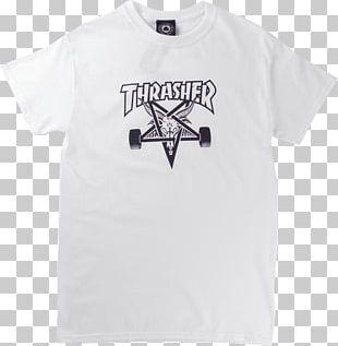 T-shirt Thrasher Presents Skate And Destroy Skateboard PNG