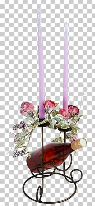Floral Design Centrepiece Candle Cut Flowers Chandelier PNG