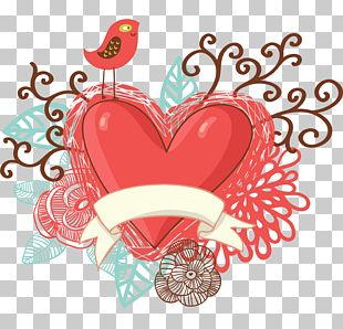 Heart-shaped Bird Flower Color PNG