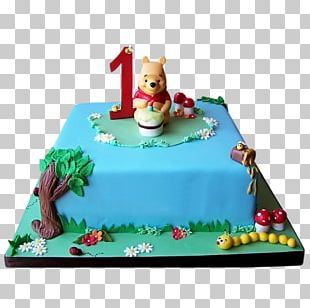 Winnie The Pooh Birthday Cake Cupcake Chantilly Cake PNG