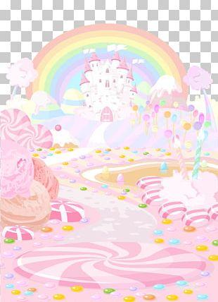 Candy Land Lollipop Cupcake Dessert PNG
