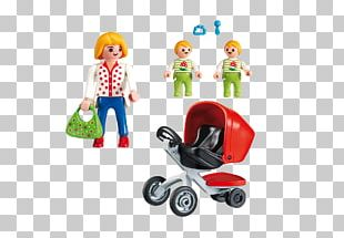 Playmobil Toy Child Shopping Cart Baby Transport PNG
