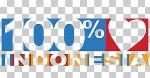 100% Cinta Indonesia Logo Indonesian PNG