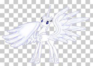 Fairy Horse Line Art Sketch PNG