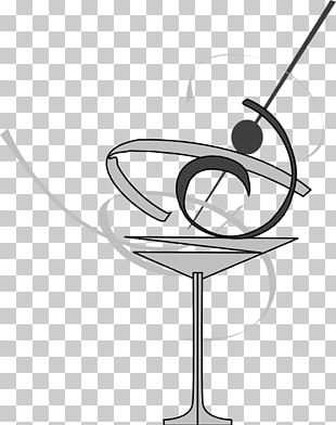 Black And White Cocktail Glass Martini PNG