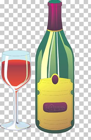 White Wine Red Wine Champagne Glass Bottle PNG