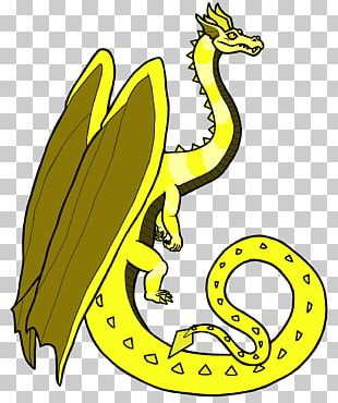 Yellow Dragon White Maleficent Monster PNG