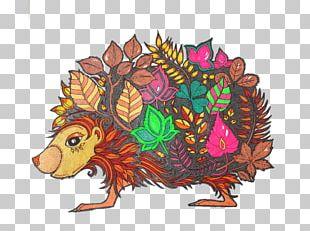 Hedgehog Color Leaf Illustration PNG