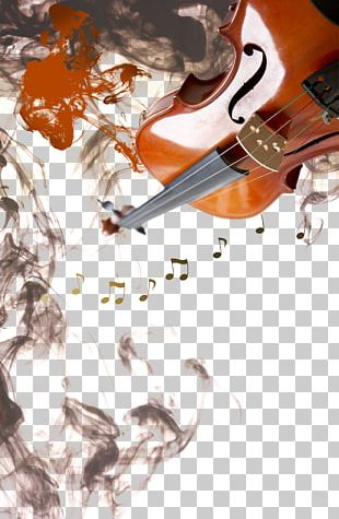 Ink Wash Painting Poster Music PNG