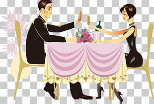 Dinner Restaurant Couple PNG