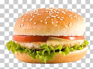 Hamburger Chicken Sandwich Veggie Burger Fast Food Cheeseburger PNG