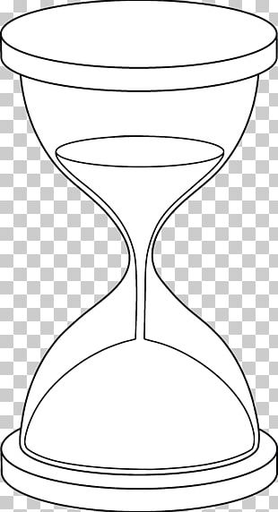 Hourglass Coloring Book Drawing PNG