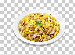 Taglierini Carbonara Vegetarian Cuisine Pizza Pasta Salad PNG