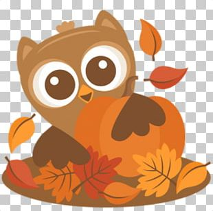 Owl Autumn Thanksgiving Scalable Graphics PNG