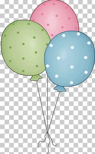 Hot Air Balloon Birthday Polka Dot PNG
