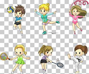 Sport Athlete Cartoon PNG