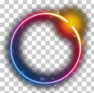 Circle 7 Logo Rainbow PNG