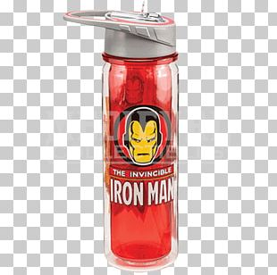 Water Bottles Iron Man Carol Danvers Marvel Comics Marvel Cinematic Universe PNG