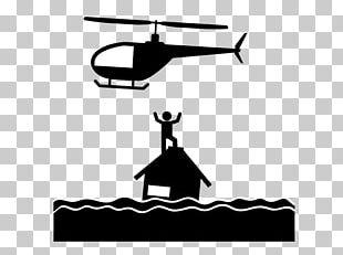 Flood Helicopter Pictogram Natural Disaster PNG