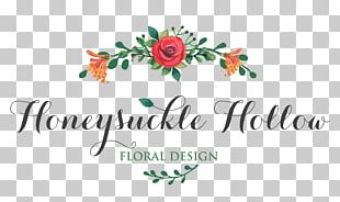 Floral Design Flower Logo Text PNG