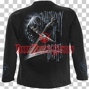 Long-sleeved T-shirt Death Human Skull Symbolism Skull Art PNG
