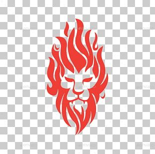 Lion Logo Graphic Design Fire PNG