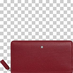 Wallet Coin Purse Leather Montblanc Zipper PNG