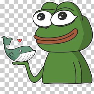 Frog Telegram Sticker Paper PNG