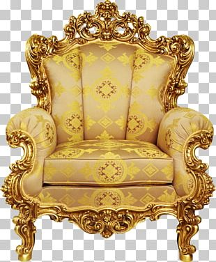 Chair Table Throne Living Room Furniture PNG