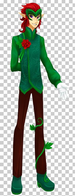 Costume Design Supervillain Green PNG