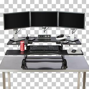 Standing Desk Sit-stand Desk Computer Monitors PNG