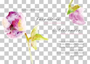 Rose Cut Flowers Wedding Invitation Floral Design PNG