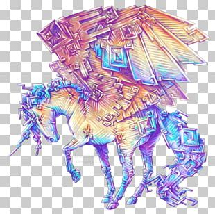 Bismuth Drawing Horse Watercolor Painting PNG