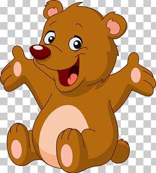 Brown Bear Polar Bear Cartoon PNG