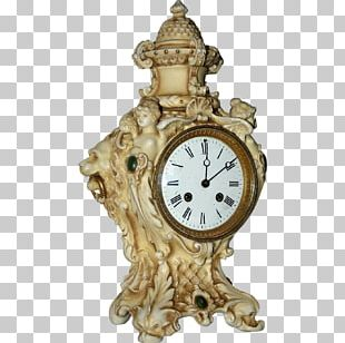 Antique Mantel Clock Fireplace Mantel Ormolu PNG