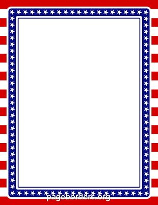 Flag Of The United States Border PNG