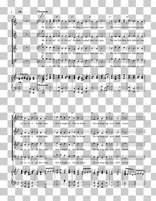 Sheet Music Choir SATB The Messiah: Hallelujah Chorus PNG