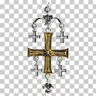 Kingdom Of Jerusalem Crucifix Cross Knights Templar PNG