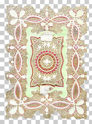 Place Mats Doily Embroidery Pink M PNG