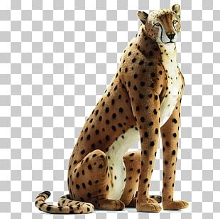 Cheetah Life-Size Hansa Plush Stuffed Animals & Cuddly Toys PNG