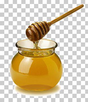 Honey Open Pot Spoon PNG