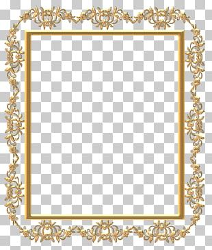 Frames Photography Gold PNG